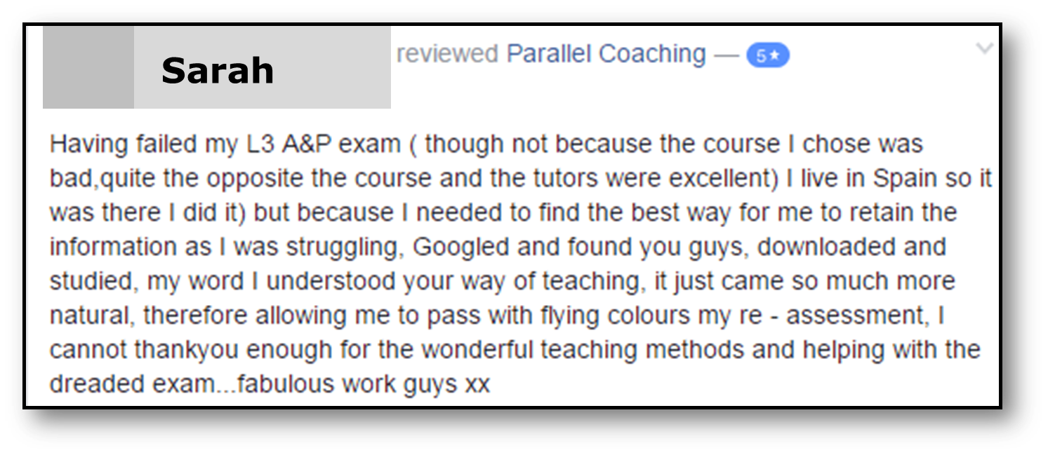 Sarah Testimonial for L2 Anatomy and Physiology RMS