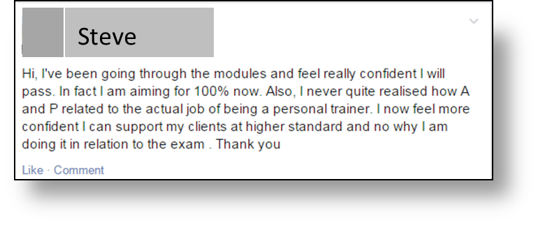Yolande Testimonial for L2 Anatomy and Physiology RMS