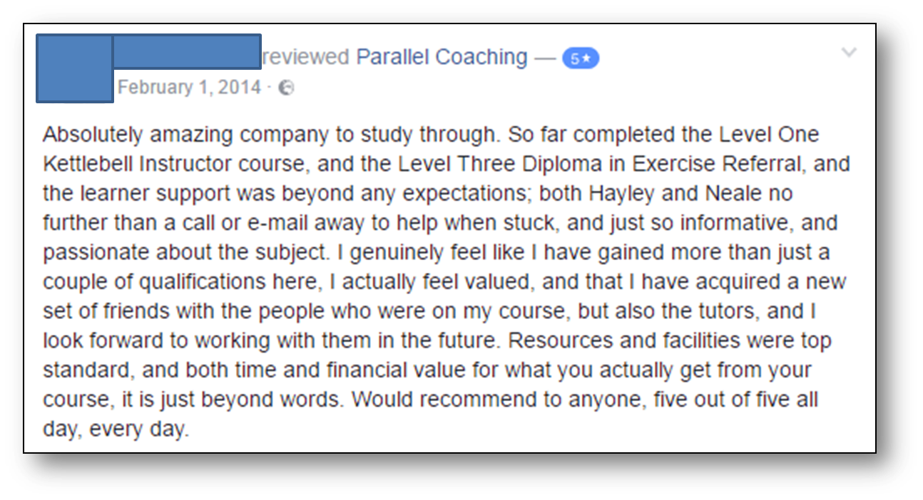 Exercise Referral testimonial 2