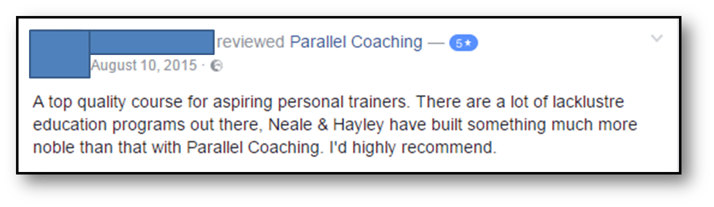 Exercise Referral testimonial 3