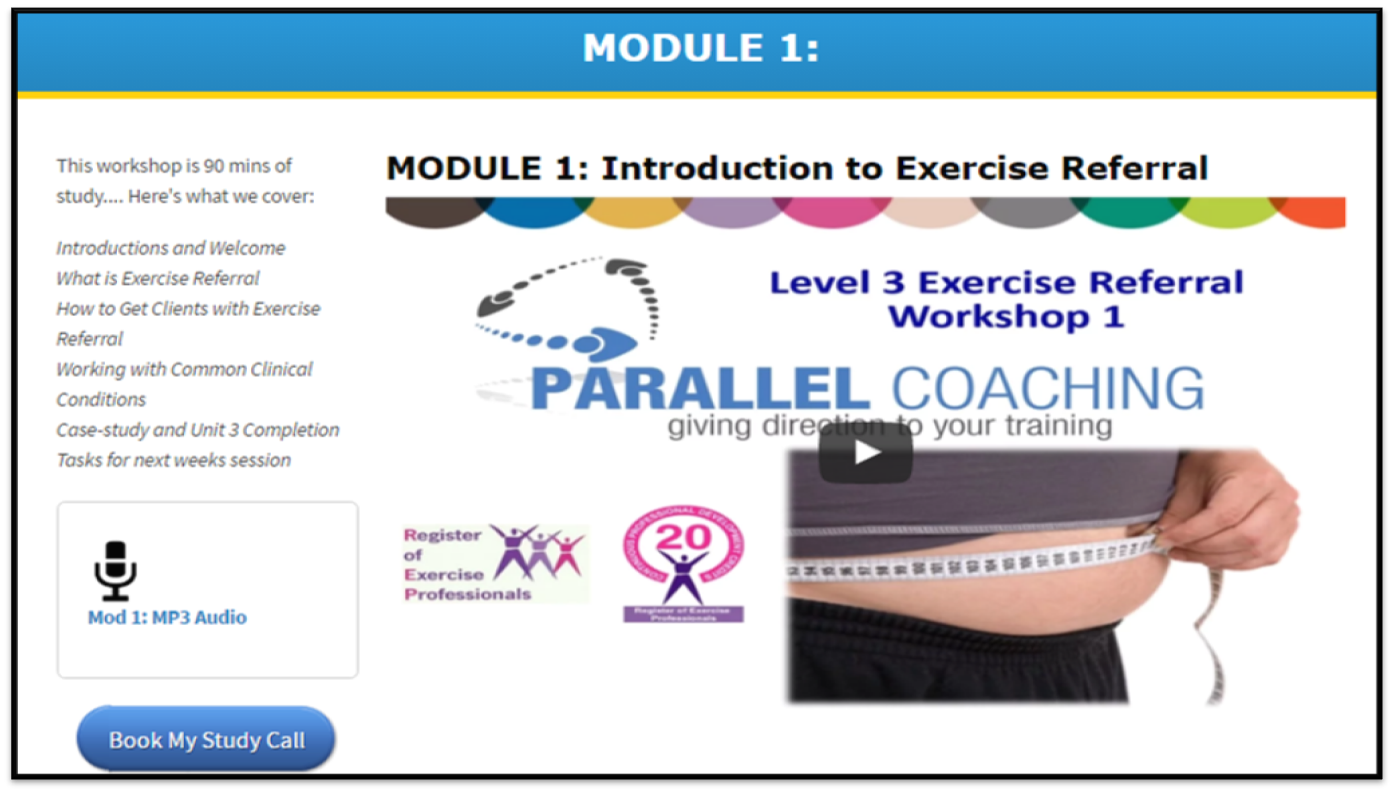 l exercise referral parallel coaching academy what is the level 3 diploma in exercise referral
